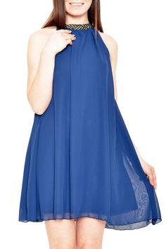 Polkadot - Jane Dress in Saxon Blue