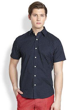 Shop for Saturdays Surf NYC Shirts for Men | Esquina Polka Dot ...