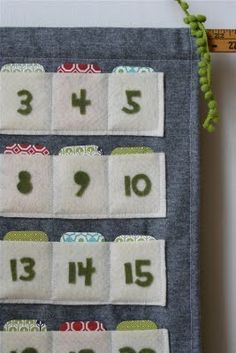DIY Advent Calendar to fill with special activities you can do with your child throughout December