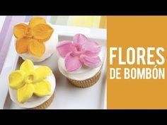 Cómo hacer una flor de bombón para un Cupcake - YouTube