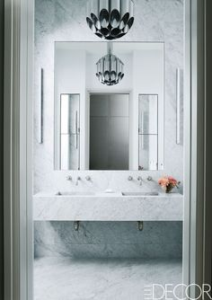 Chic White Bathrooms   ELLEDecor.com