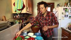 Crunchy Green Salad with Lime Avocado Dressing: Raw Vegan Superfood Recipe, via YouTube.