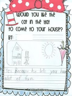 Cat in the Hat Writing Craftivity