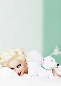 Famous people (Madonna) + Dogs