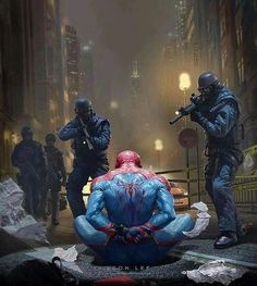 """1,065 Likes, 1 Comments - ART GALLERY (@comics_hall) on Instagram: """"By Leon Lee . . #spidermanhomecoming #SpiderMan #Spidey #PeterParker #TheVulture #deadpool2…"""""""