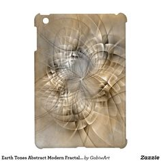 Earth Tones Abstract Modern Fractal Art Texture iPad Mini Case