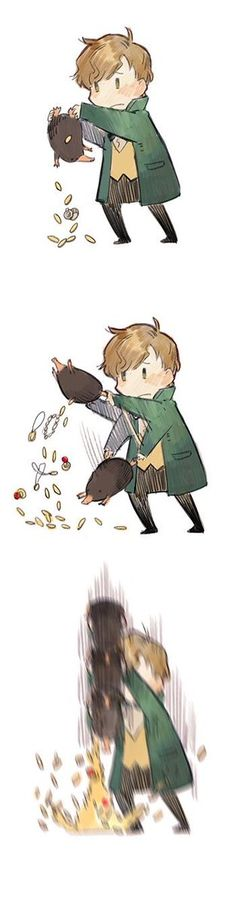 newt scamander and his niffler