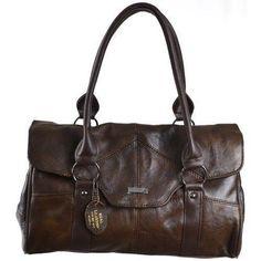 Oferta: 23.26€. Comprar Ofertas de Lorenz - Bolso al hombro de piel para mujer marrón marrón oscuro barato. ¡Mira las ofertas!