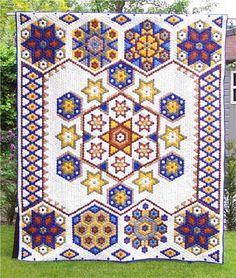 Hexagon Quilt (70 7/8 X 82 5/8)   4 years & nearly 10,000 hexies. Beautiful!
