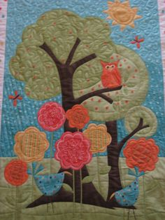 Owl and Fishes Baby/Kids Quilt by JPsColorfulQuilts on Etsy, $150.00 (so cute keep in  mind!)