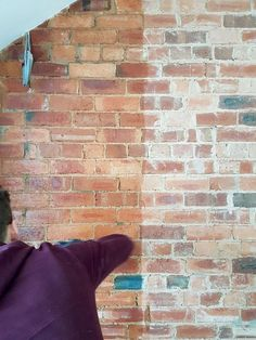 How to seal an exposed brick wall. An easy DIY that took just a few hours. Interior Design by Making Spaces