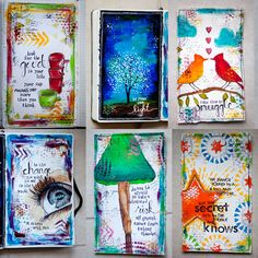 Art journal pages by Karenika