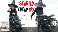 Need some SCARY Halloween Costumes in a Hurry. this is a SCARILY CHEAP and easy to make DIY Halloween Costume - create your own no sew Witch's outfit. it has never been easier to be spooky!