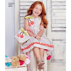 Simplicity Pattern 8063 Children's Spring Dresses with Purses