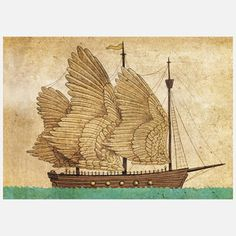Winged Odyssey by Canadian artist Terry Fan, $24, now featured on Fab.