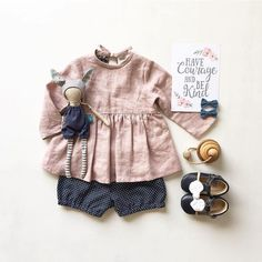 Kids outfits, cute baby clothes и kids fashion. Baby Girl Fashion, Toddler Fashion, Kids Fashion, Style Fashion, Baby Kids Clothes, Doll Clothes, Girl Outfits, Cute Outfits, Retro Mode