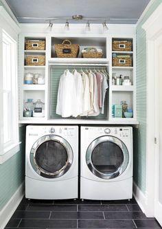 Small laundry room storage and organization ideas (60)
