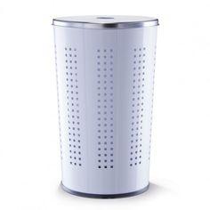 Zeller 18613 Laundry Basket 30 / 34 x 60 cm Metal / Stainless Steel White Laundry Basket, Stainless Steel, Interior Design, Metal, Home Decor, Asylum, Nest Design, Decoration Home, Home Interior Design
