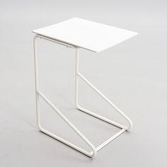Alvar & Aino Aalto; Tubular Steel Side Table for the Paimio Sanatorium by Huoneakalu-ja Rakennustyötehdas Oy, 1930s