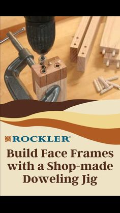 Beginner Woodworking Projects, Woodworking Jigs, Carpentry, Dowel Jig, Wood Working For Beginners, Face Framing, Barn Wood, Wood Crafts, Wood Projects