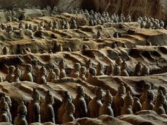More than 2,200 thousand year oldTerra-Cotta Warriors, about 22 miles east of of Xian, China.