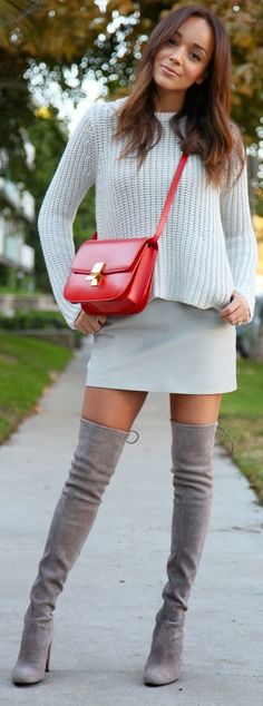 Casual Summer to Fall Transition With Red Pop ! women fashion outfit clothing stylish apparel @roressclothes closet ideas