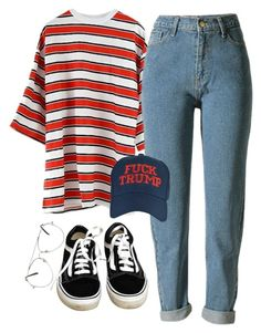 """straight like that"" by chanelandcoke ❤ liked on Polyvore featuring Hood by Air, WithChic and Vans"
