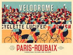 Full colour version of the new vintage Paris-Roubaix print. Wheelie over to the shop to find this one and much more! Nature Prints, Bird Prints, Large Prints, Paris Roubaix, Cycling Art, Road Cycling, Road Bike, Cycling Quotes, Mtb Bike