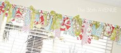 Fabric scraps on your curtain rod! Can be a neat touch to white curtains! Nice idea for girls room!