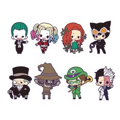 """Someone has turned all of your favorite DC Universe villains into adorable chibi rubber straps! They've all been put in tiny boxes too so they can't get up to too much trouble, and it seems this has happened to eight so far including The Joker, Harley Quinn, Catwoman, Poison Ivy, The Penguin, Scarecrow, The Riddler, and Two-Face. Each box includes one complete set of all eight 2.4"""" straps, but it'... #tokyootakumode #toy #BATMAN"""