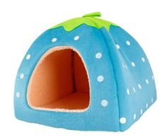 Strawberry pet bed in multiple sizes and colors! #cats #pets #beds