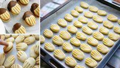 Turecké maslové sušienky cookies s jednoduchou prípravou a skvelou chuťou! Czech Desserts, Köstliche Desserts, Delicious Desserts, Dessert Recipes, Yummy Food, Slovak Recipes, Czech Recipes, Cookie Time, Pan Dulce