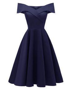 Sleeveless A-Line Cocktail Vintage Dress | Seamido