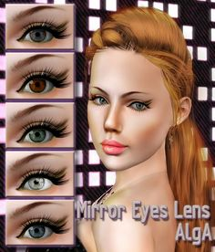 Mirror Eyes Lenses by AlgA - Sims 3 Downloads CC Caboodle