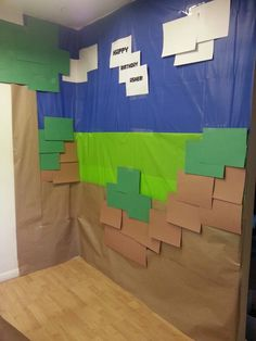 Minecraft wall- minecraft party