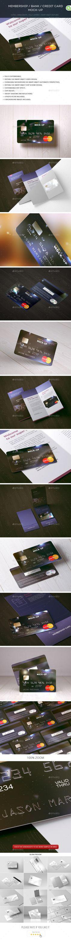 Membership / Bank / Credit Card Mock-up — PSD Template #credit #bonus #giftcard…