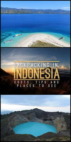 Backpacking in Indonesia: Costs, Tips and Places to See Thinking of going backpacking in Indonesia? There are so many places to see, including paradise beaches, volcanoes and ancient ruins. Check out my list of tips and places to see in Indonesia. Cool Places To Visit, Places To Travel, Travel Destinations, Phuket, Backpacking Asia, Reisen In Europa, Bali Travel, Beach Trip, Southeast Asia