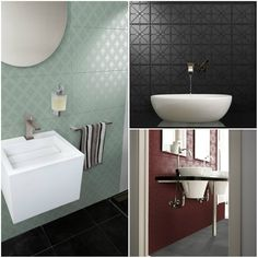 INFINITY SERIES - available in 12 different patterns & 24 different colours, you'll be sure to find one that suits you! / 300x600mm size only. Plain coloured tiles are also available.