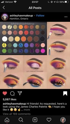 Eye Makeup Steps, Makeup Eye Looks, Eye Makeup Art, Skin Makeup, Creative Eye Makeup, Colorful Eye Makeup, Makeup Morphe, Looks Dark, Makeup Pictorial