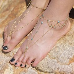 Shop turquoise Wedding Foot Jewelry for the bride. Barefoot Sandals Beautiful Beaded Anklet with Toe ring. Sole less Shoes for Bridesmaids feet weddings Beach jewelry blue barefoot wedding jewelry gift for the bride or bridal party. turquoise theme barefoot sandals Bride beach Wedding sandals     one pair.     Discounts on multiple pairs of barefoot sandals  for bridal party. Please contact us for pricing.      MADE TO ORDER: Please Allow two weeks production time    Shop our ankle foot…