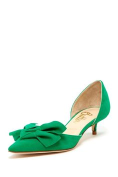 Like this, not quite such a strong green, though. And an open-toe would be cuter. Okay, maybe I don't like this. LOL!