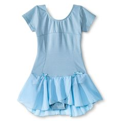 Danz N Motion by Danshuz Girls' Lattice Back Cap Sleeve Activewear Dress - Lt Blue 6X/7, Girl's, Lite Blue