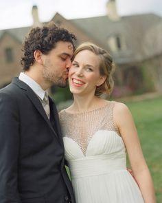 dress by Aidan Mattox | @Kate Mazur Headley via @Martha Stewart Weddings Magazine