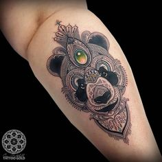 Detailed Panda Tattoo Design by Coen Mitchell