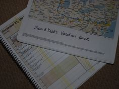 Love this idea for trip-specific travel journals that help your kids stay involved along the way & make a great keepsake when they get home camp, travel journals, kid organization, famili, disney trips, road trips, vacat book, kid involv, books for kids