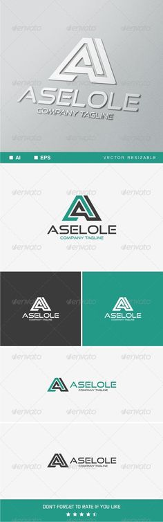 A Letter v.3 Logo Template http://graphicriver.net/item/a-letter-v3-logo-template/8368502?ref=damiamio Logo template suitable for your business. • Easy to edit, change size, color and text. • Full layered. • CMYK and RGB color • AI and EPS 10 & CS formats fully editable. • Main name used : Good Times you can found here : .dafont /good-times.font *mockup are for preview purpose only! Created: 23July14 GraphicsFilesIncluded: VectorEPS #AIIllustrator Layered: Yes MinimumAdobeCSVersion: CS…