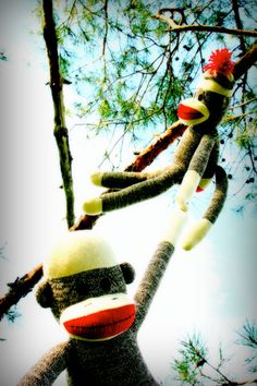 Cute art for a sock monkey nursery, playroom, or dorm room! http://www.etsy.com/shop/sweetbuttercup