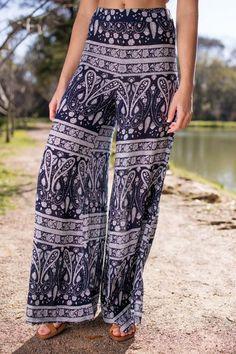 The Boho Tribe Navy Matching Set - Pants