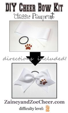 DIY Cheer Bow Kit! Everything you need to make your own pawprint cheer bow!
