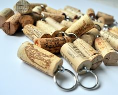 Wine Cork Keychains - Cleverly Inspired